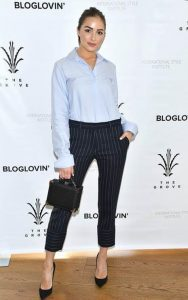Olivia Culpo arrives at the Grove in LA for her panel at the International Style Institute