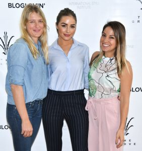 Anita Patrickson, Olivia Culpo and Sarah Boyd attend the International Style Instittue at the Grove in LA presented by Anita Patrickson and Simply Inc.